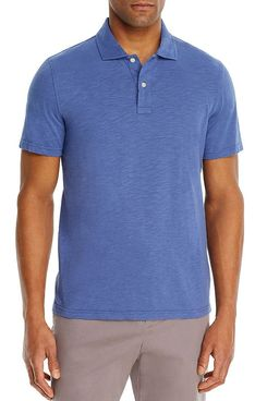 Bloomingdale's Slub Jersey Enzyme Wash Classic Fit Polo