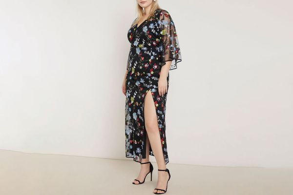 Eloquii Embroidered Kimono Dress