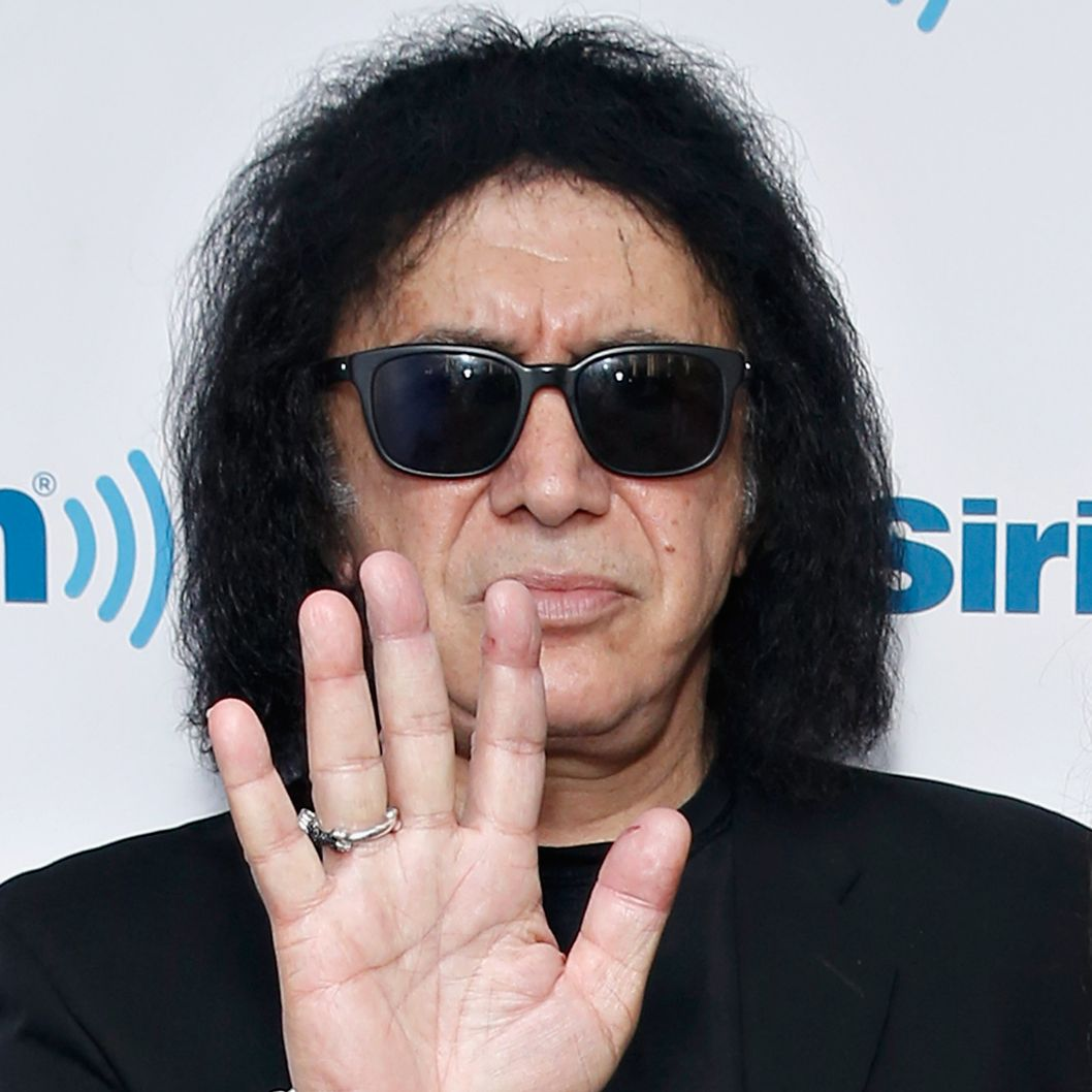 NEW YORK, NY - AUGUST 11:  (EXCLUSIVE COVERAGE/SPECIAL RATES APPLY) Musician Gene Simmons visits the SiriusXM Studios on August 11, 2014 in New York City.  (Photo by Cindy Ord/Getty Images)