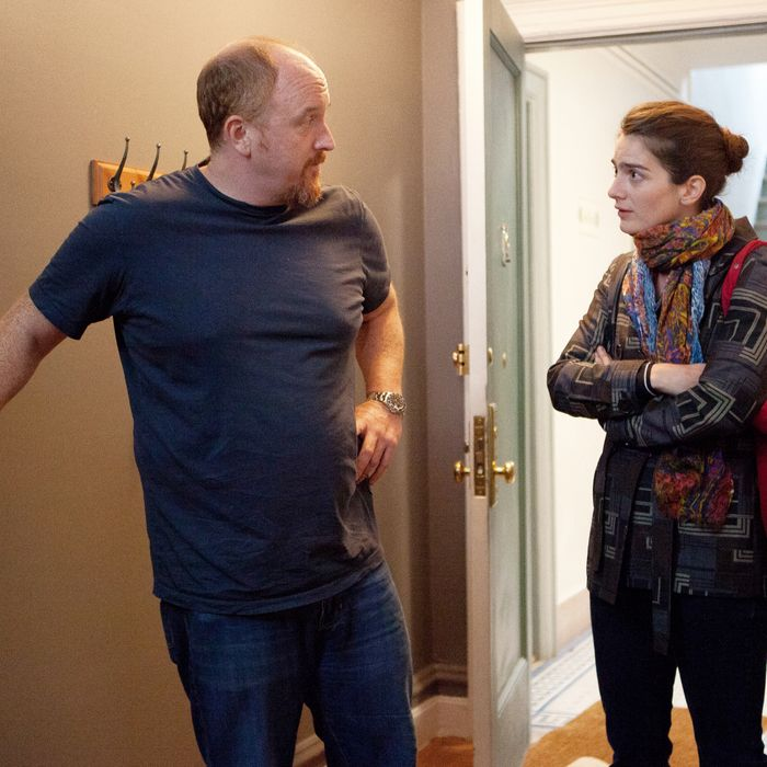 LOUIE: Episode 1: Something Is Wrong (Airs June 28, 10:30 pm e/p). L-R: Louis C.K. and Gaby Hofman.