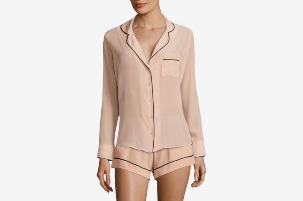 470913506c Maison Du Soir Bardot Crepe Pajama Top