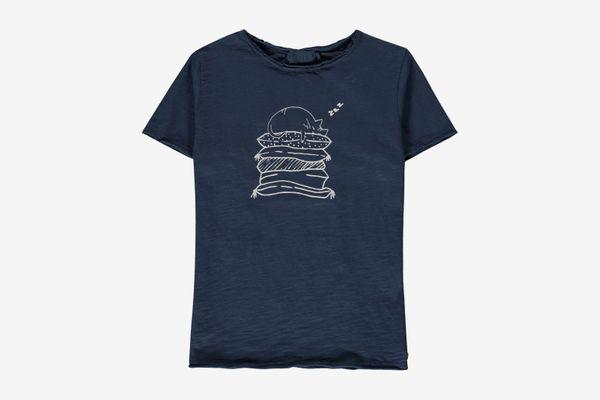 Buho Cesar Cat T-Shirt Navy Blue