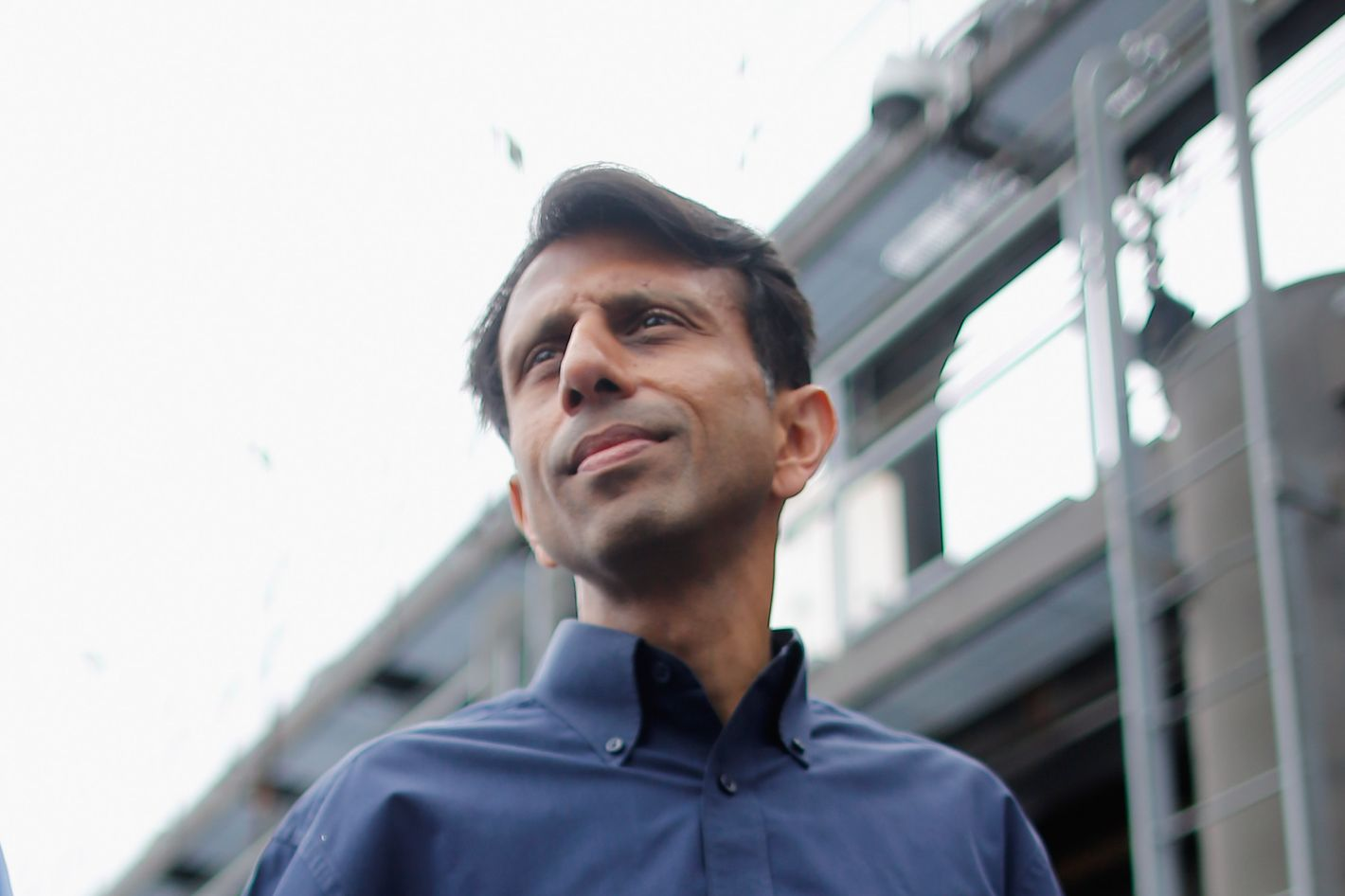 METAIRIE, LA - AUGUST 28:  Louisiana Governor Bobby Jindal receives an update on the status of the pumping station at the 17th Street Canal during Hurricane Isaac on August 28, 2012 in Metairie, Louisiana. Hurricane Isaac is expected to make landfall along the Louisiana coast later today.  (Photo by Chris Graythen/Getty Images)