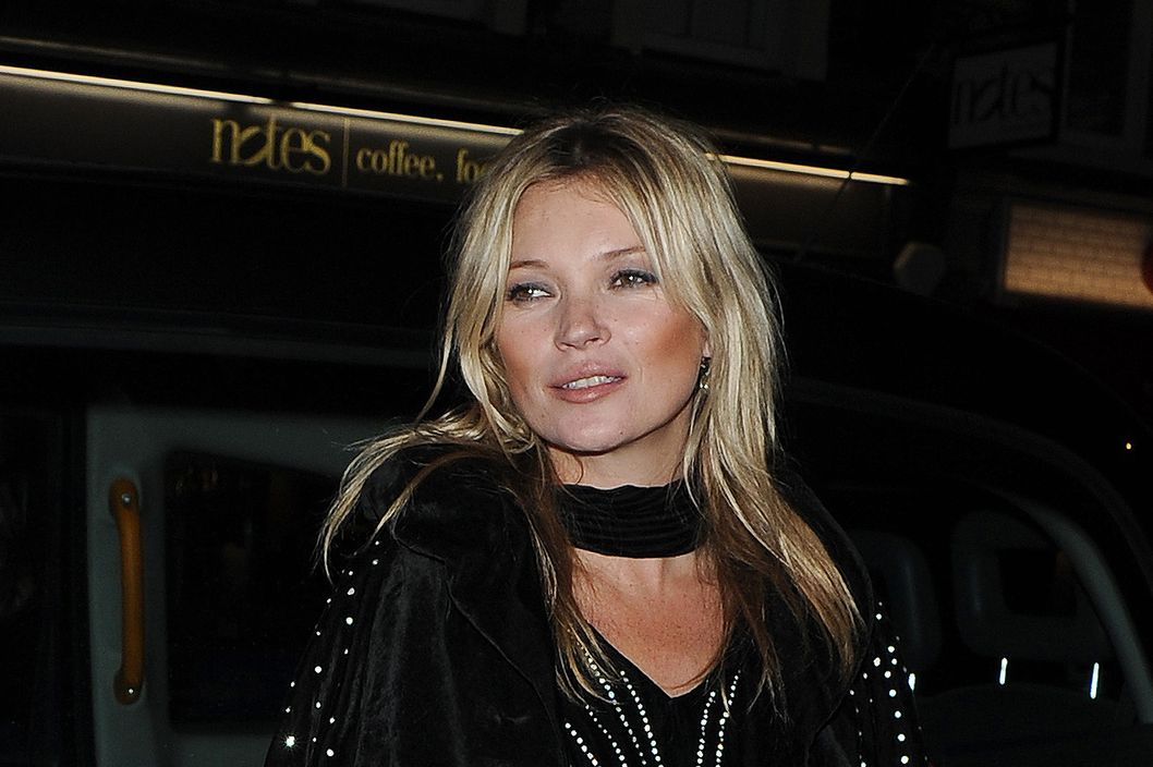 Kate Moss arrives at Rimmel 180th birthday party at the London Film Museum on October 10, 2013 in London, England.