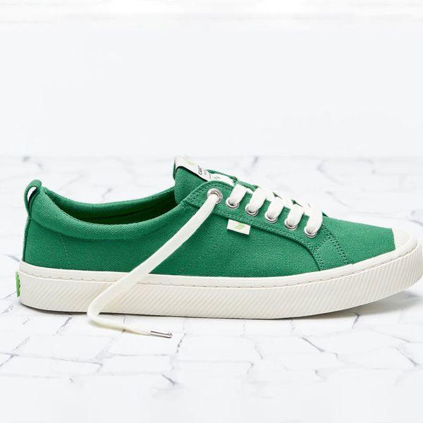 OCA Low Green Canvas Sneakers
