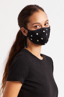 Brixton Lightweight Antimicrobial Face Mask - Black Polka