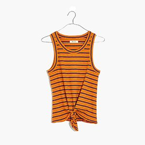 Audio Knot-Front Tank Top
