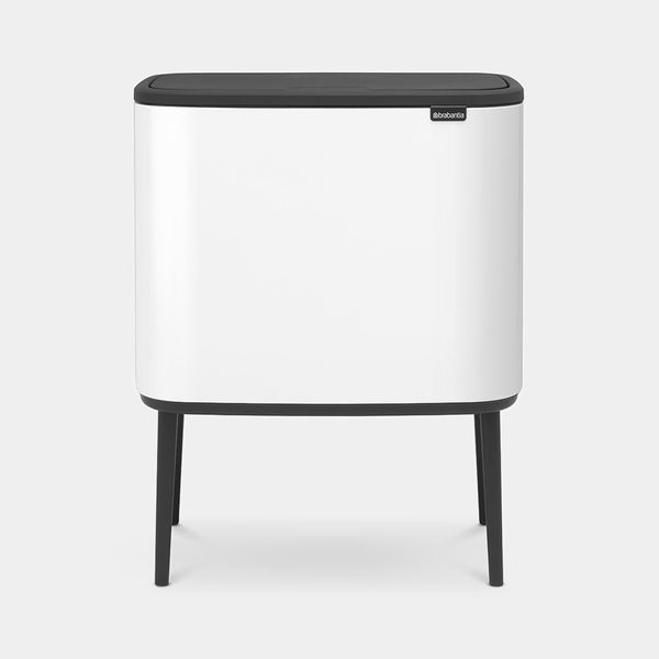 Brabantia Bo Touch Top 9-Gallon Trash Can in Matte Steel