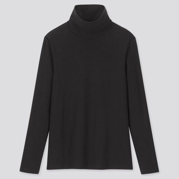 Uniqlo 1*1 Ribbed Cotton Turtleneck Long-Sleeved T-Shirt