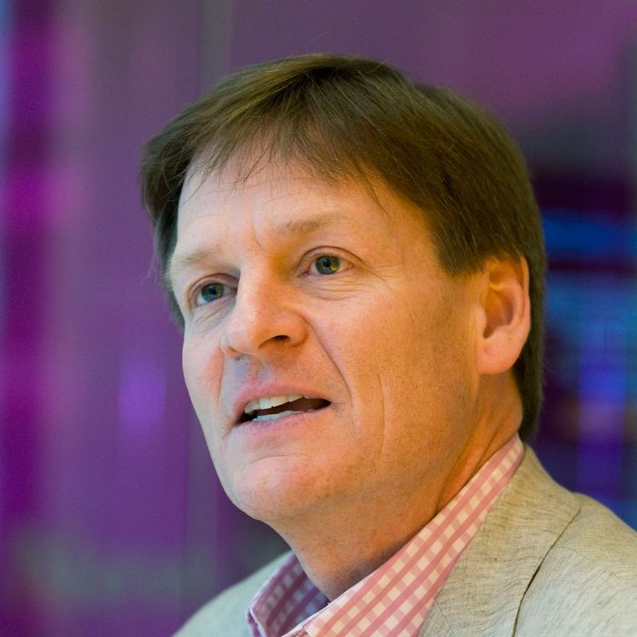 Author Michael Lewis speaks during an interview in New York, U.S., on Monday, March 15, 2010. Lewis's new book is