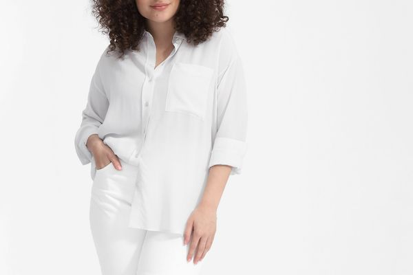 Everlane Clean Silk Oversized Shirt