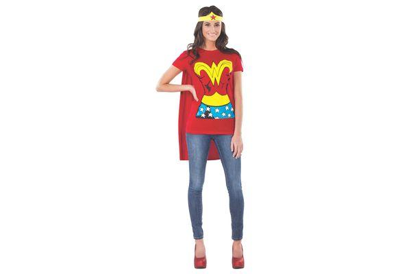 DC Comics Wonder Woman T-shirt With Cape and Headband Costume