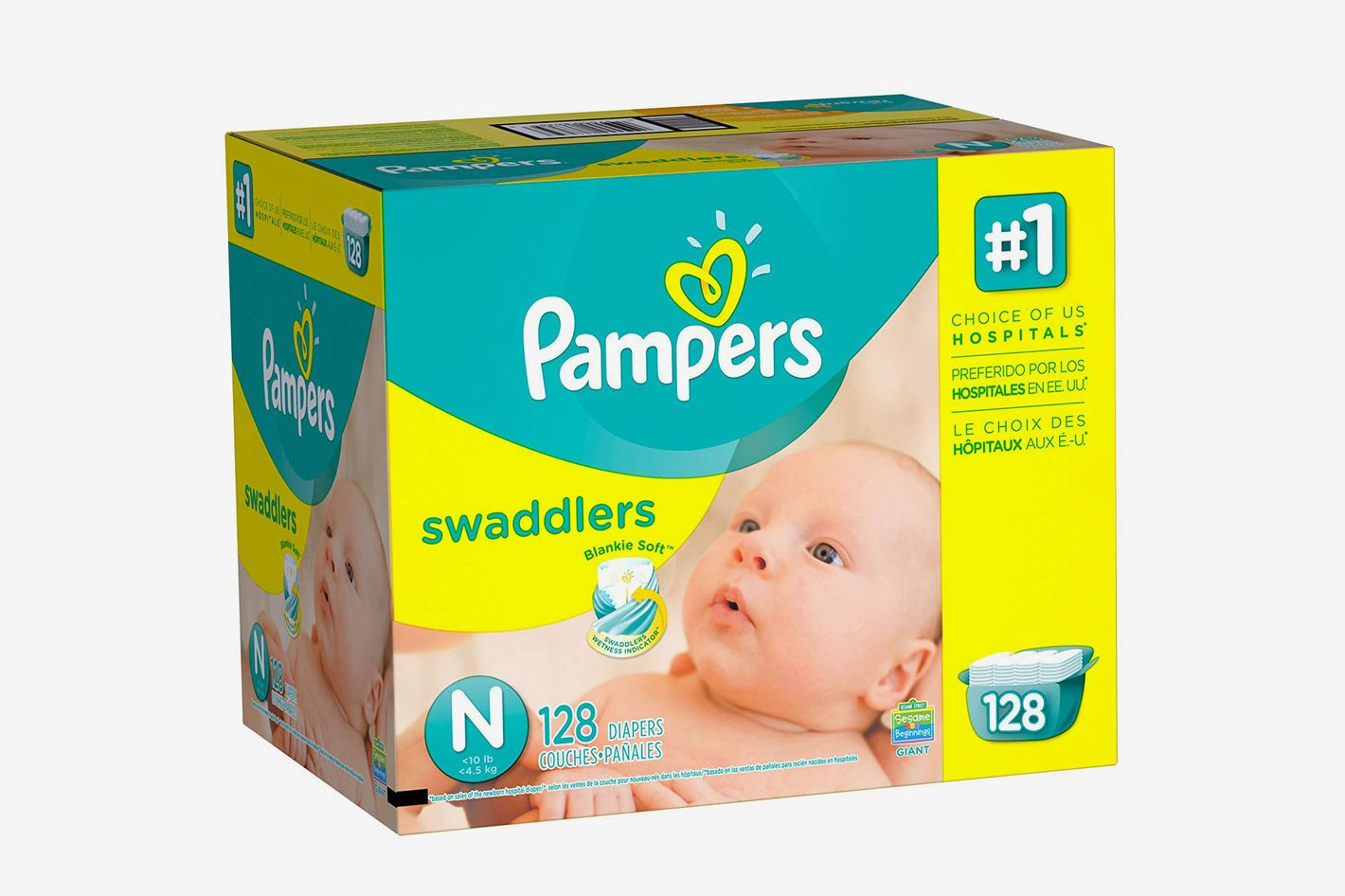 Pampers Swaddlers Disposable Diapers Newborn Size