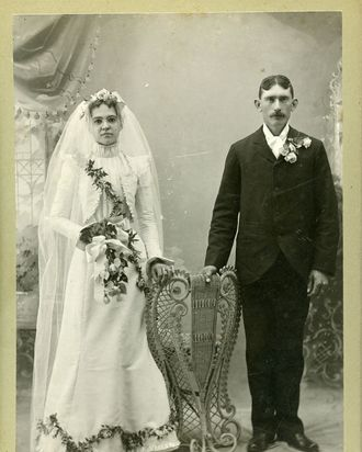 Cabinet Card Photos of 19th-Century Newlyweds