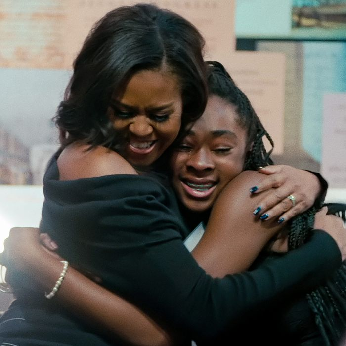 Michelle Obama in the documentary Becoming