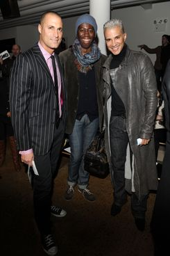 Nigel Barker, Jay Manuel and J. Alexander attend The Blonds fall 2012 fashion show