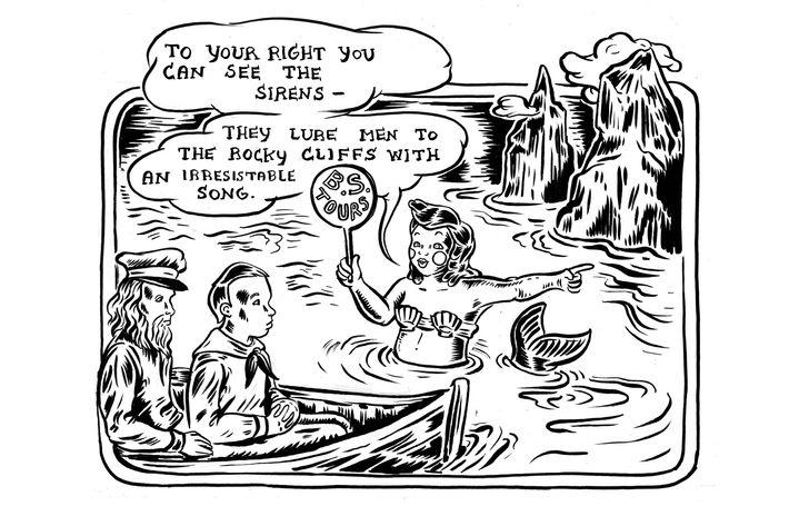 "Ali Fitzgerald's latest ""Bermuda Square"" comic strip."