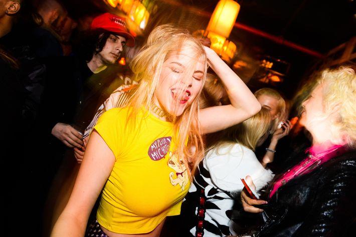 Ashley Smith at Jeremy Scott's Flash Factory after-party.