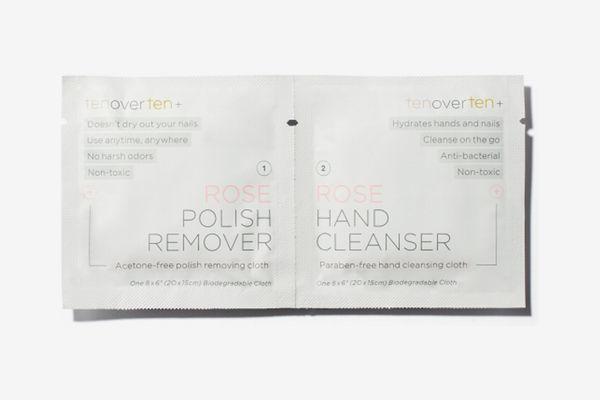 Tenoverten Rose Polish Remover + Hand Cleanser Cloths