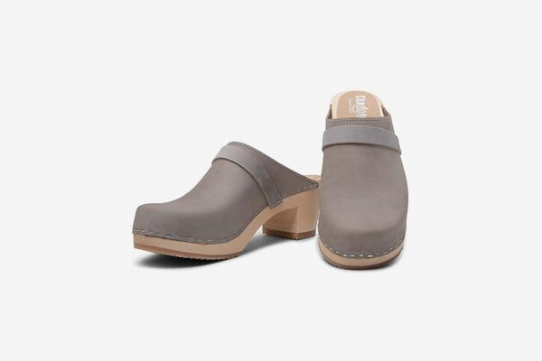 Sandgrens Swedish High Heel Wooden Clog Mules
