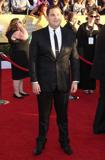 The 18th Annual Screen Actors Guild Awards in LA. <P> Pictured: Jonah Hill <P><B>Ref: SPL355267  290112  </B><BR/> Picture by: Jen Lowery / Splash News<BR/> </P><P> <B>Splash News and Pictures</B><BR/> Los Angeles:310-821-2666<BR/> New York:212-619-2666<BR/> London:870-934-2666<BR/> photodesk@splashnews.com<BR/> </P>
