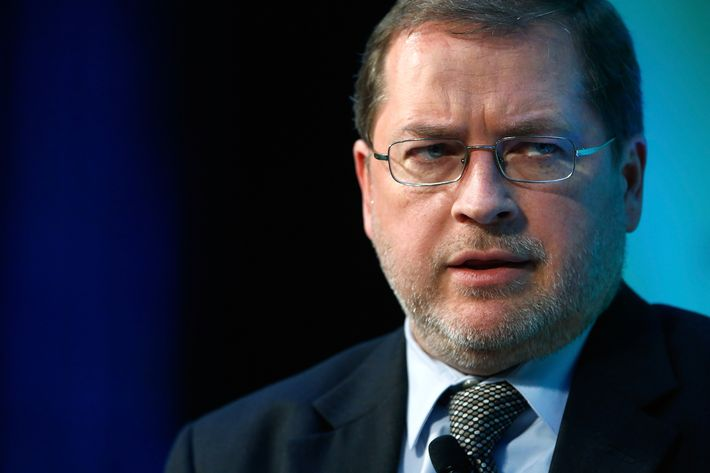 Americans for Tax Reform Founder and President Norquist sits for an on-stage interview at The Atlantic Economy Summit in Washington
