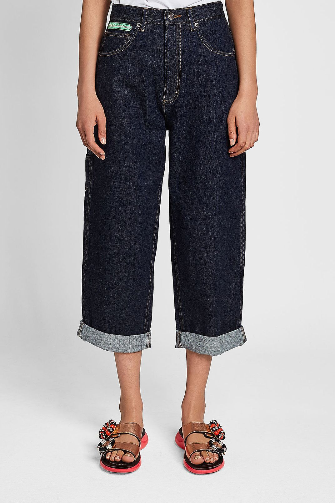Marc Jacobs Wide Leg Cuffed Jeans