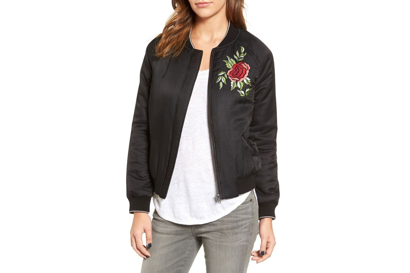 Velvet by Graham & Spencer Embroidered Bomber Jacket