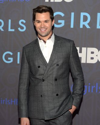 Andrew Rannells attends the premiere of