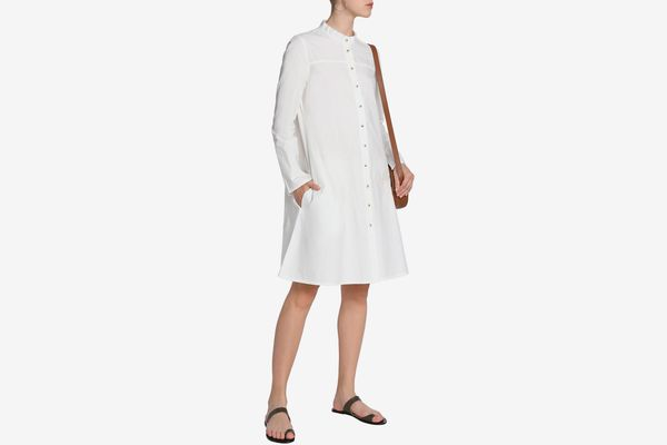M.I.H Jeans Crinkled Cotton-Poplin Shirt Dress