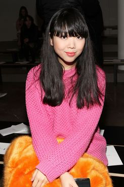 Susie Lau of Style Bubble attends the Dion Lee fashion show during MADE Fashion Week Fall 2014 at Milk Studios on February 6, 2014 in New York City.