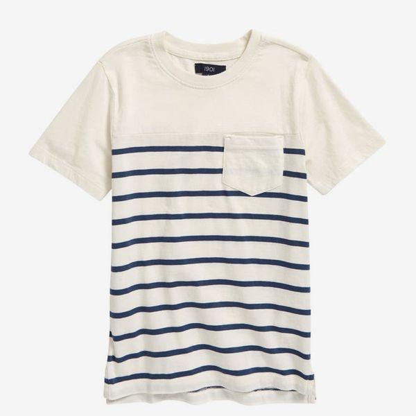 Nordstrom Kids' Striped Short Sleeve T-Shirt