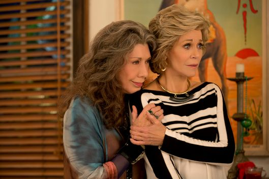 Lily Tomlin as Frankie, Jane Fonda as Grace.