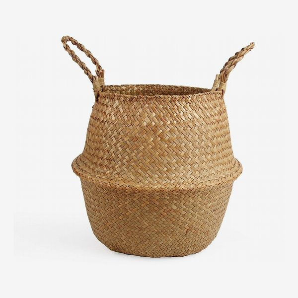 Woven Seagrass Belly Basket