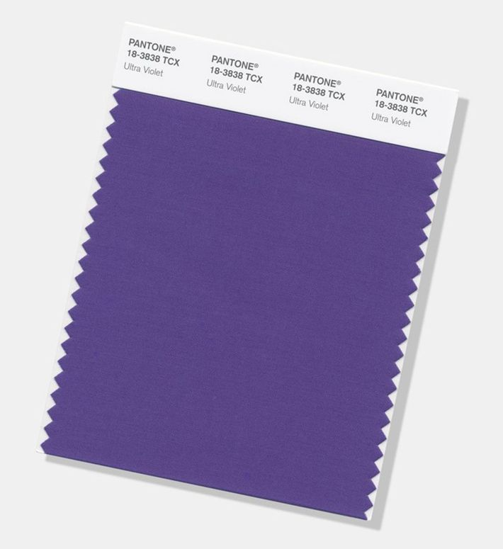 Pantone unveils ultra violet as 2018 color of the year for Pantone color of 2018