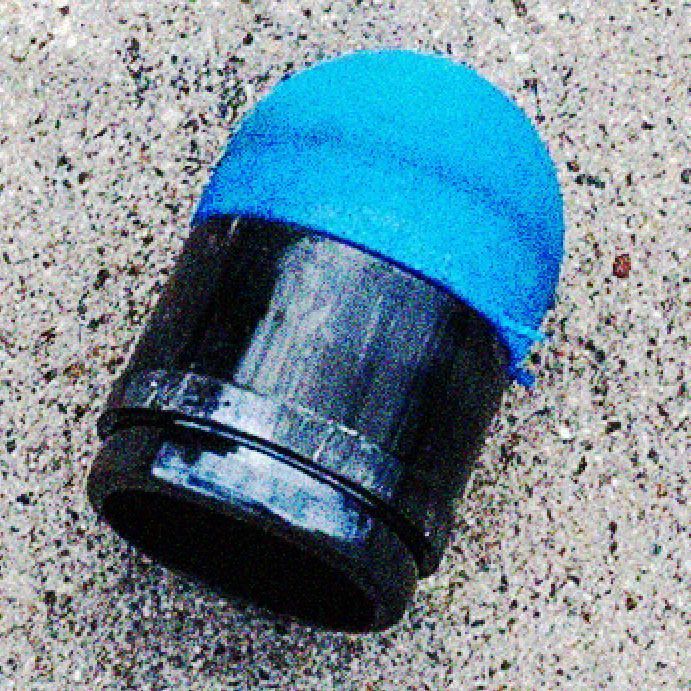 Rubber bullet fired amid George Floyd protest.