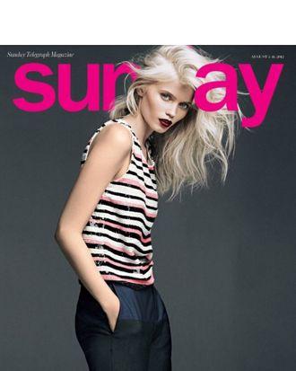 Abbey Lee Kershaw for <em>Sunday Telegraph Magazine</em>.