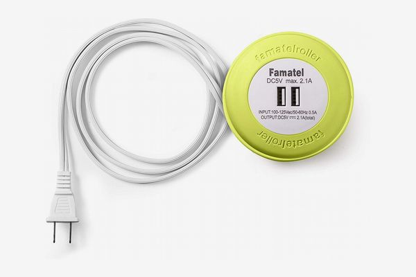 Famatel Extension Cord with Dual USB Charger Port