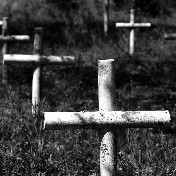 Grave markers at the Arthur G. Dozier School for Boys.