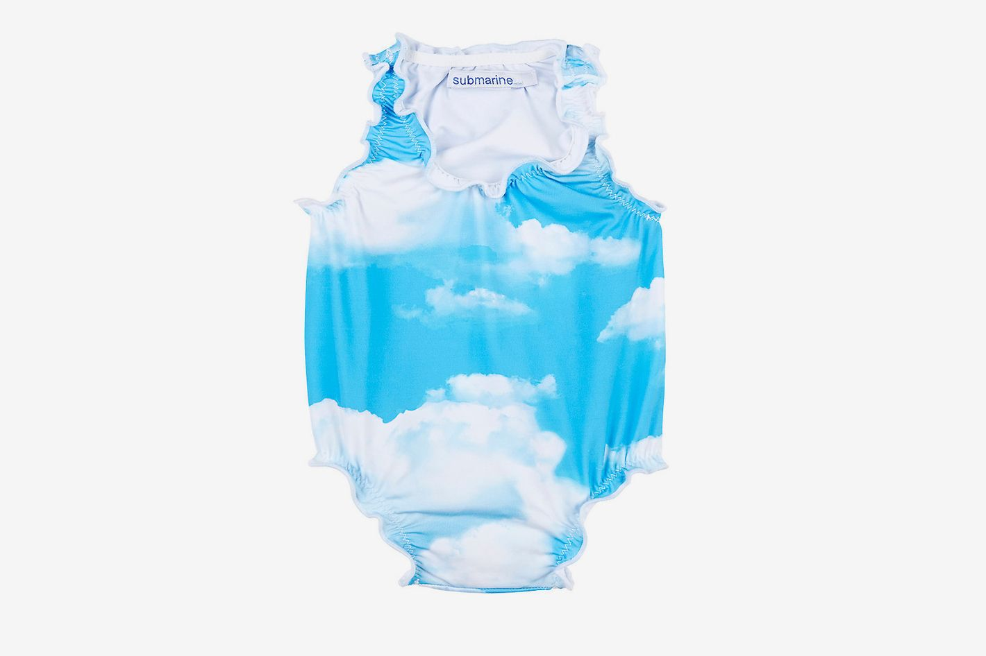 Submarine Cloud-Print Tank Swimsuit