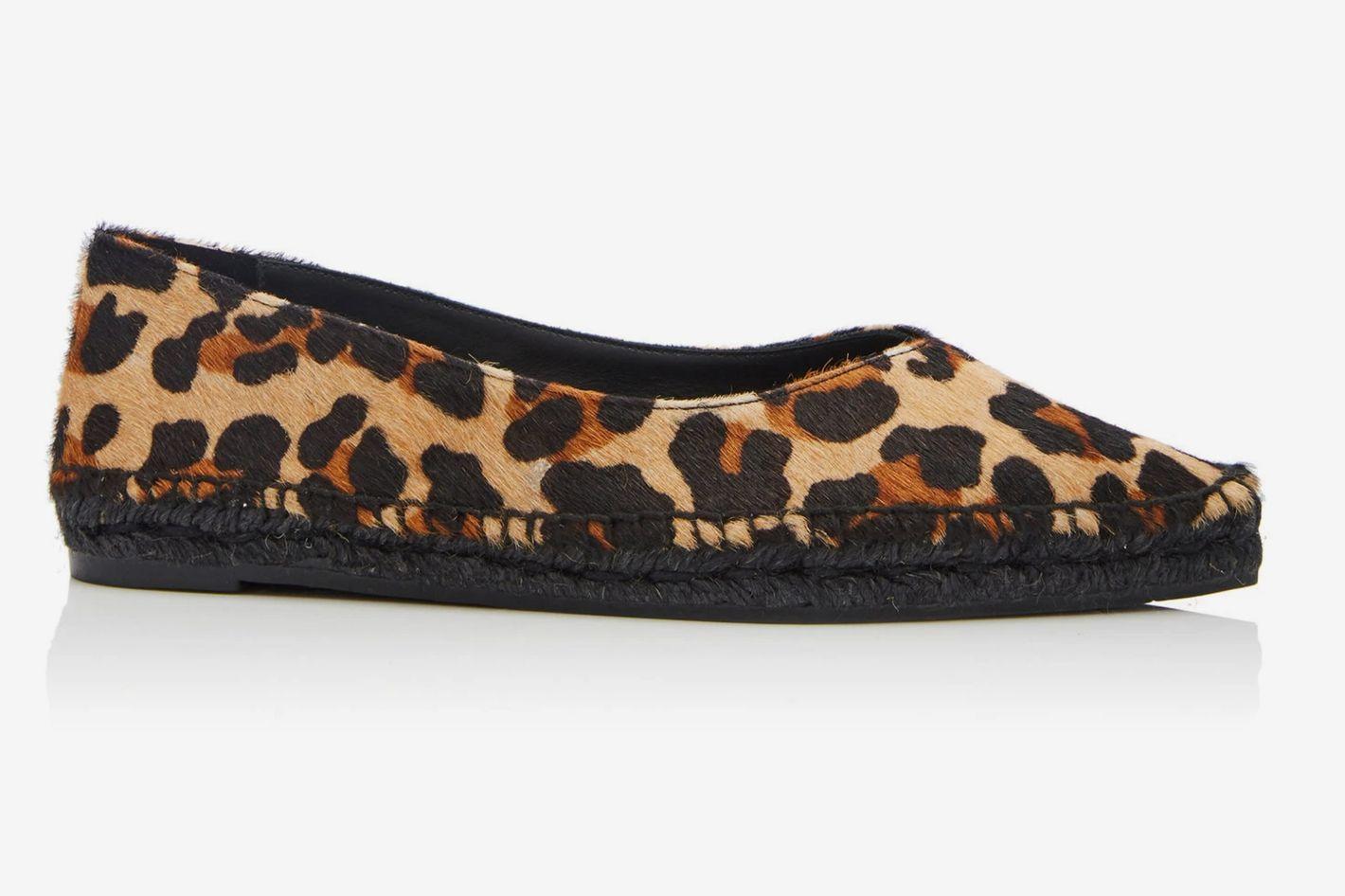Castañer Rosme Leopard-Print Calf-Hair Espadrilles