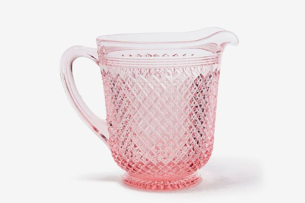 Pink Glass Pitcher