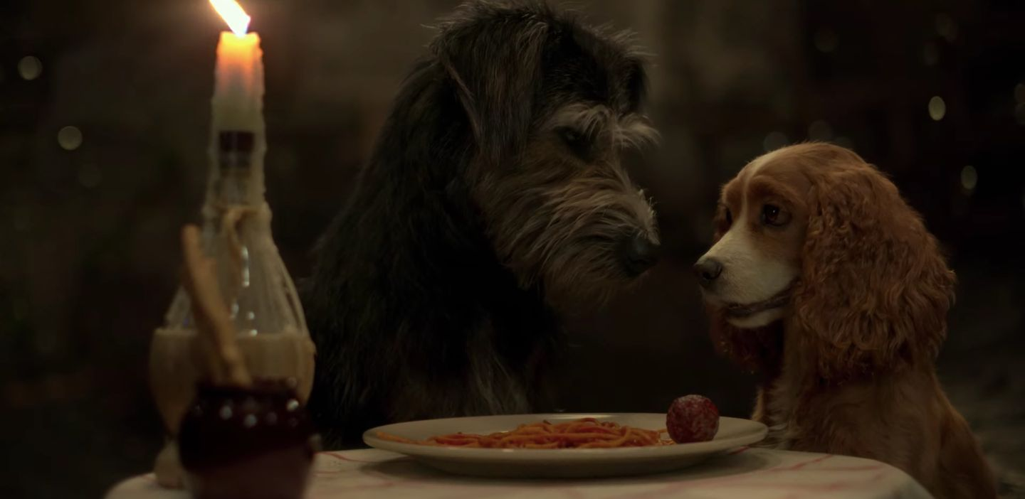Lady and the Tramp Trailer: But Do They Spaghetti-Kiss?