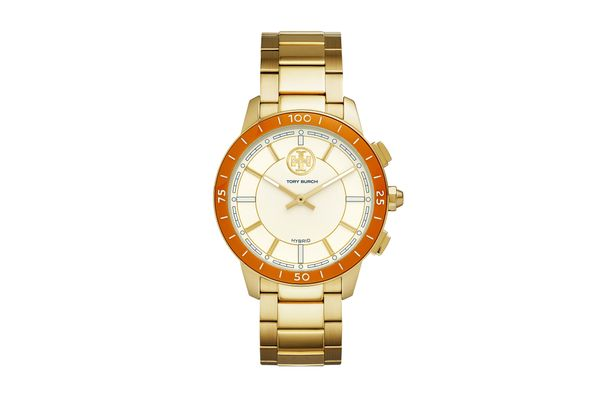 ToryTrack Hybrid Smartwatch, Gold-tone Stainless Steel/Ivory