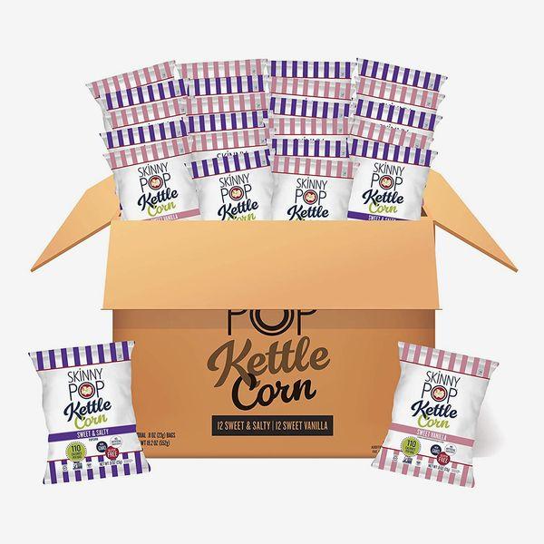 SkinnyPop Popcorn Kettle Variety (Sweet and Salty & Sweet Vanilla, Pack of 24)