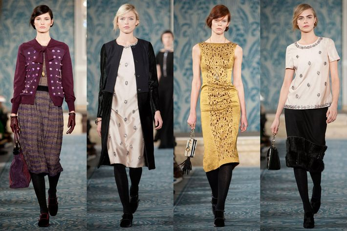Rich looks from Tory Burch.