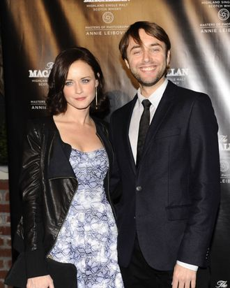 Alexis Bledel, Vincent Kartheiser==The Macallan Masters of Photography: Annie Leibovitz U.S. Launch==The Bowery Hotel, NYC==October 10, 2012==?Patrick McMullan==Photo - CLINT SPAULDING/PatrickMcMullan.com====