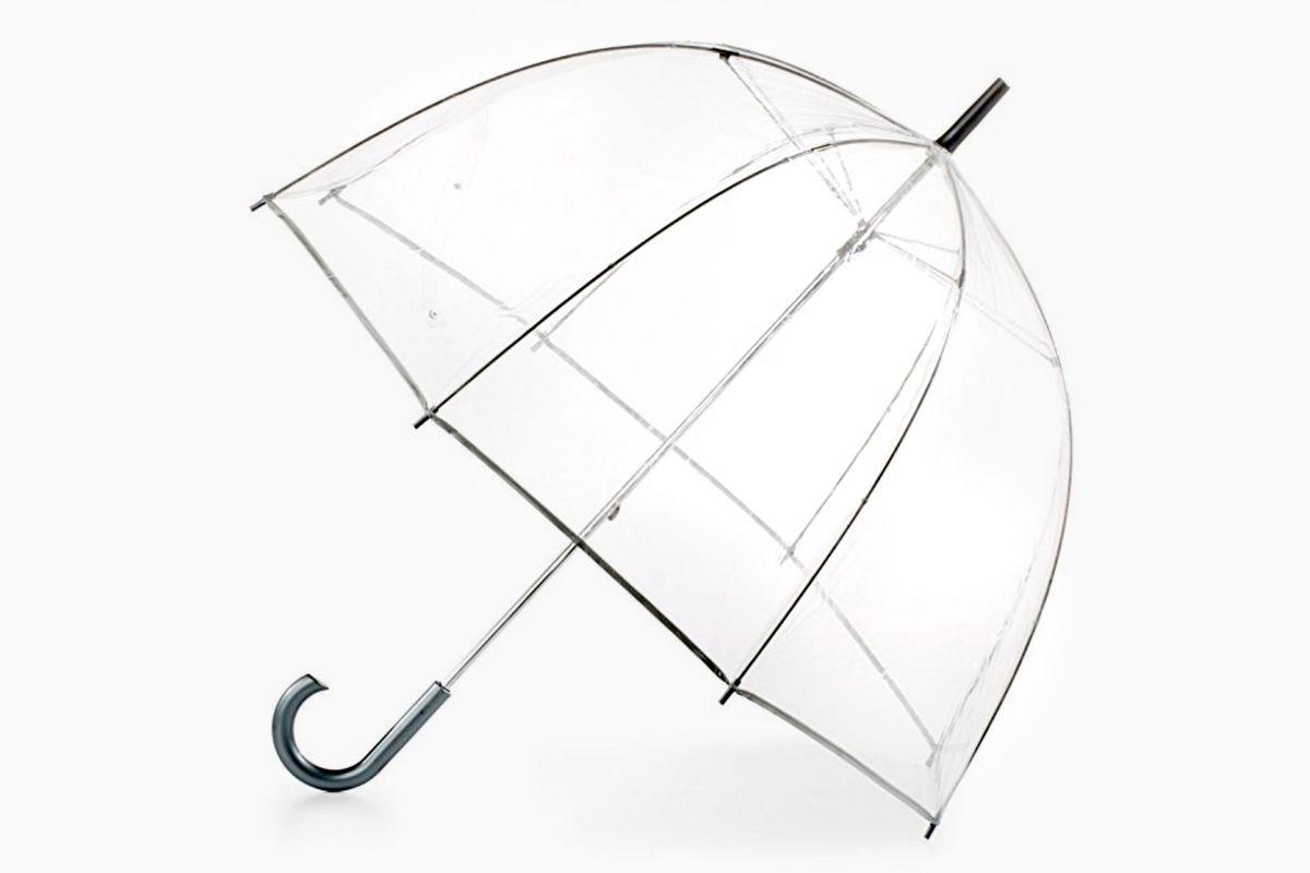 New York Fashion Week Street Style Trend Clear Umbrellas