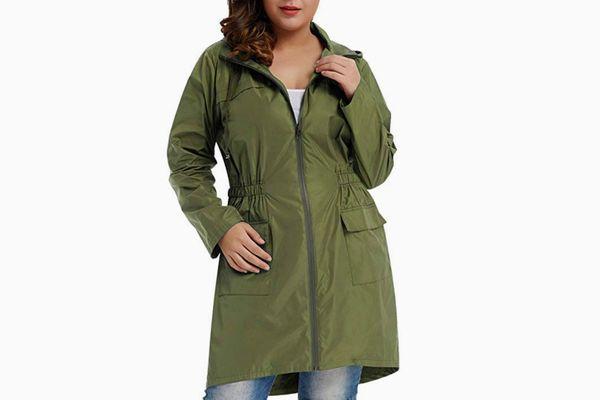 Hanna Nikole Plus Size Rain Jacket