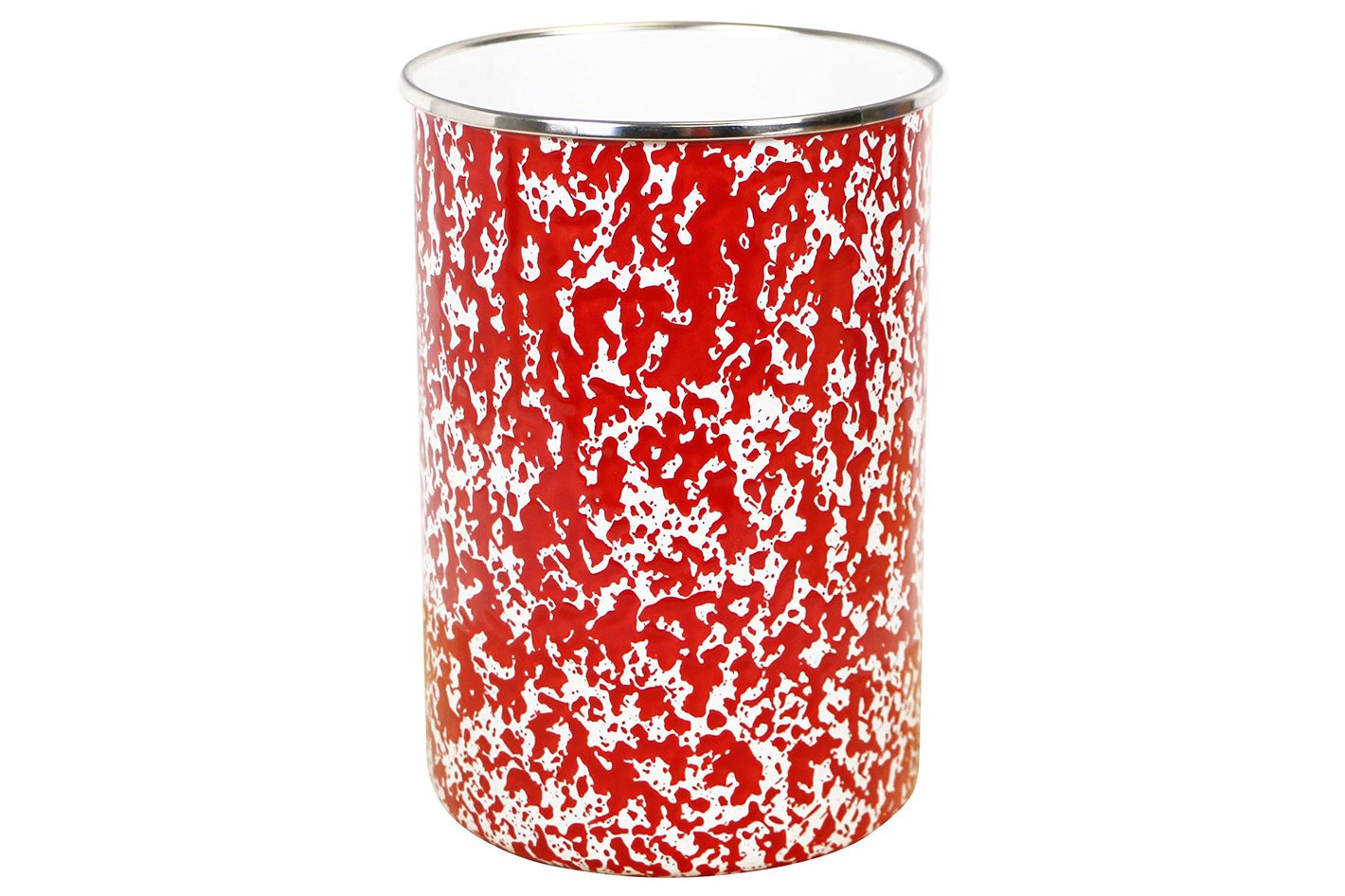 Calypso Basics by Reston Lloyd Marble Enamel on Steel Utensil Holder, Red Marble